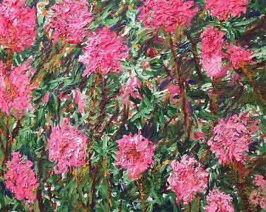 Flowers Painting by Ira Stark