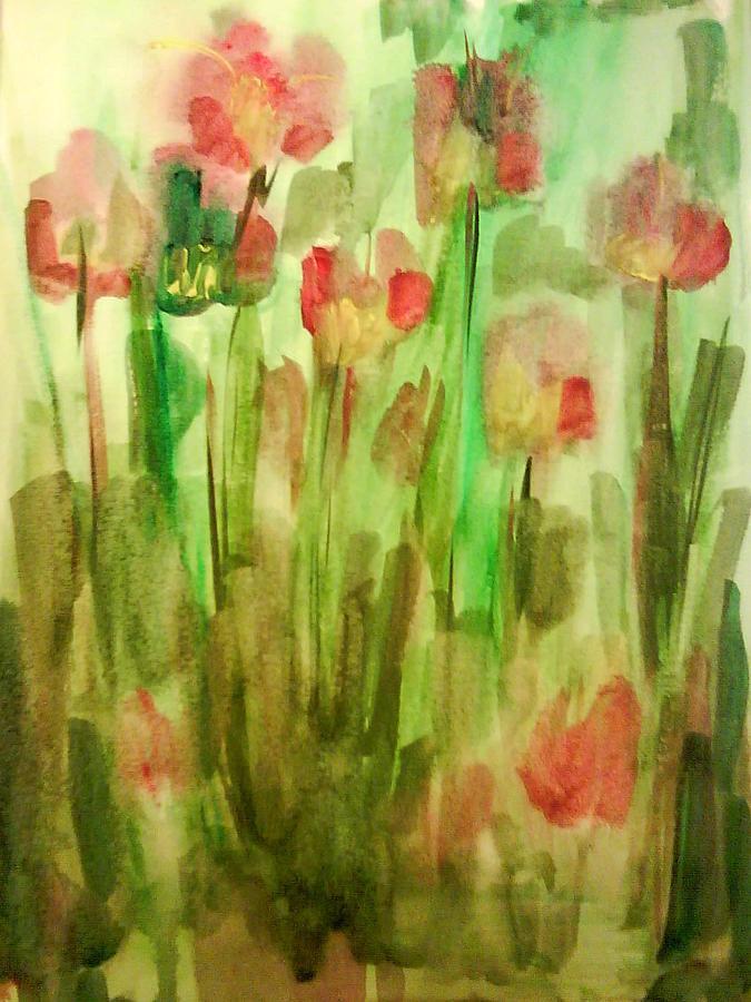Flowers Painting - Flowers by Lu