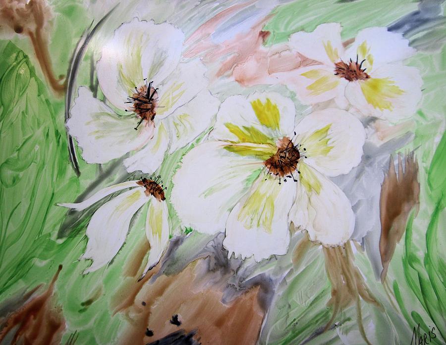 Flowers Painting - Flowers by Maris Sherwood