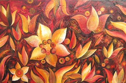 Flowers Of Harmony Painting by Irena Shklover