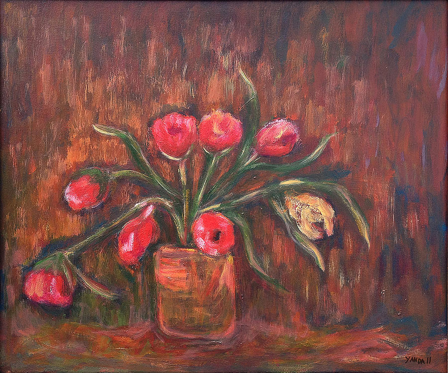 Flowers of Pink in Vase by Katt Yanda