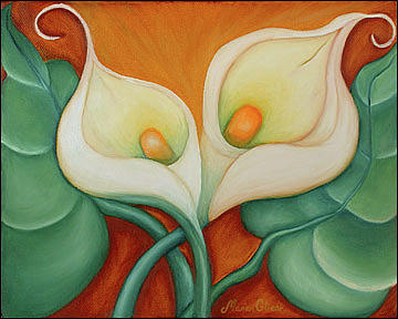 Flower Painting - Flowers of Poesy III by Marian Gliese