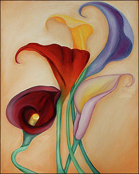 Flower Painting - Flowers of Poesy V by Marian Gliese