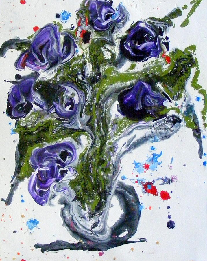 Purple Flowers Painting - Flowers Of The Mind by Pearlie Taylor