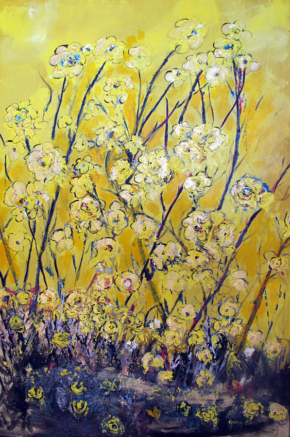 Flowers Painting - Flowers Of The Sun by Gary Smith