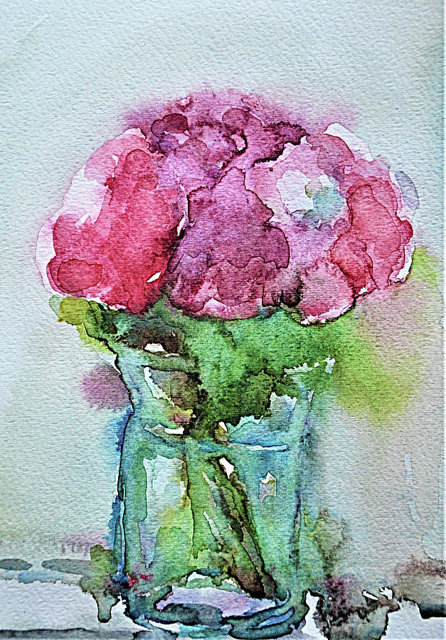 Flowers on Vase by Mikyong Rodgers