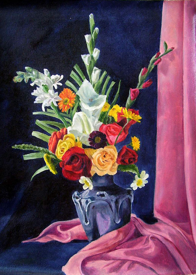 Tall Painting - Flowers Pac by Rabindra Meher