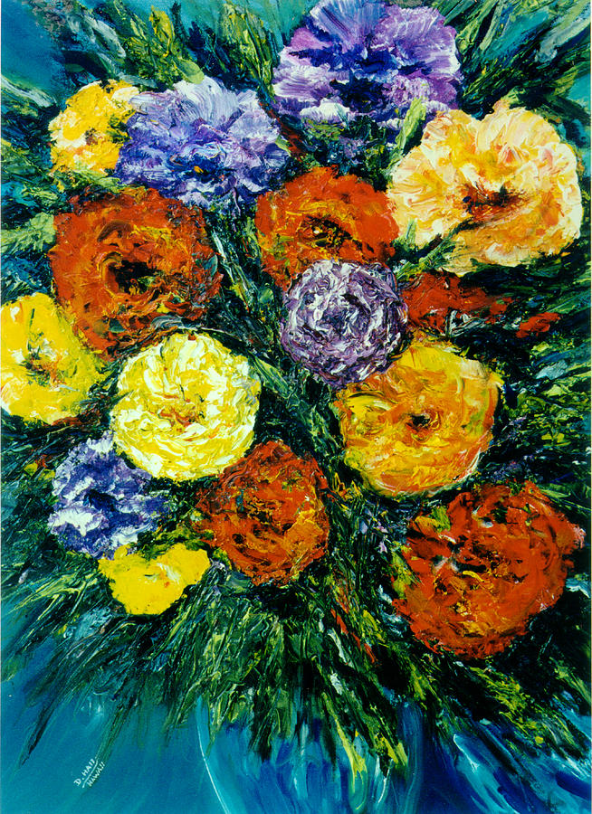 Hawaii Artist Painting - Flowers Painting #191 by Donald k Hall