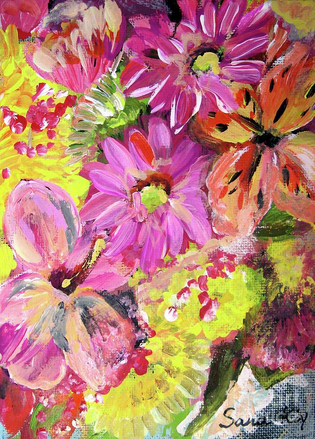 Art Sale Painting - Flowers Painting by Oksana Semenchenko