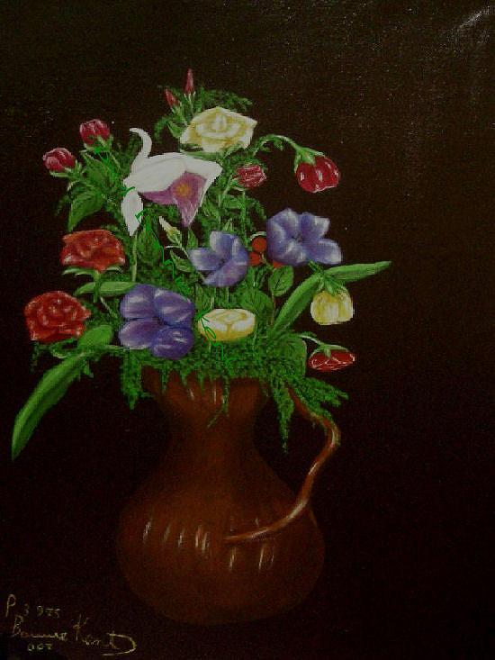 Flowers Painting - Flowers by Paul Bonnie Kent