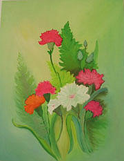 Floral Painting - Flowers  by ShilpiCreativeArts