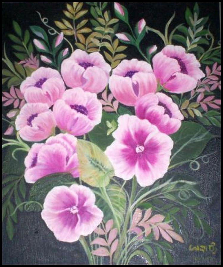 Flowers Painting - Flowers by Usha Rai
