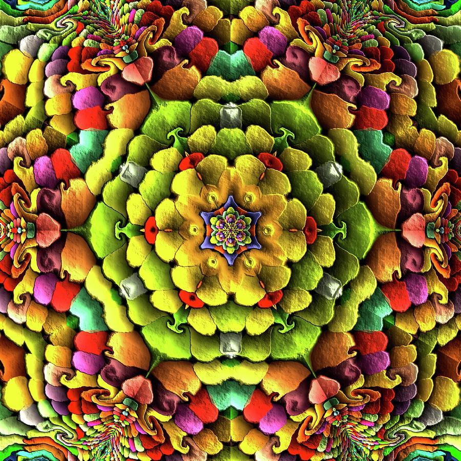 Mandala Digital Art - Flowerscales 62 by Robert Thalmeier
