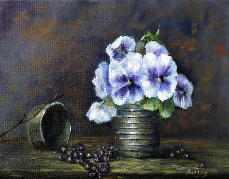 flowers,pansies still life by Katalin Luczay