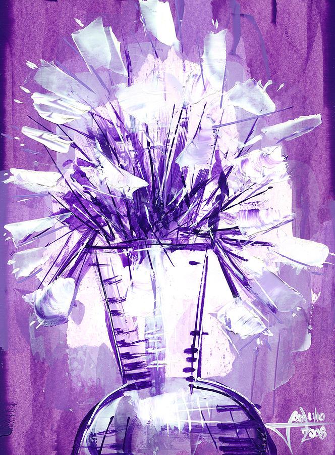 Flowery Purple II Painting by Jose Julio Perez