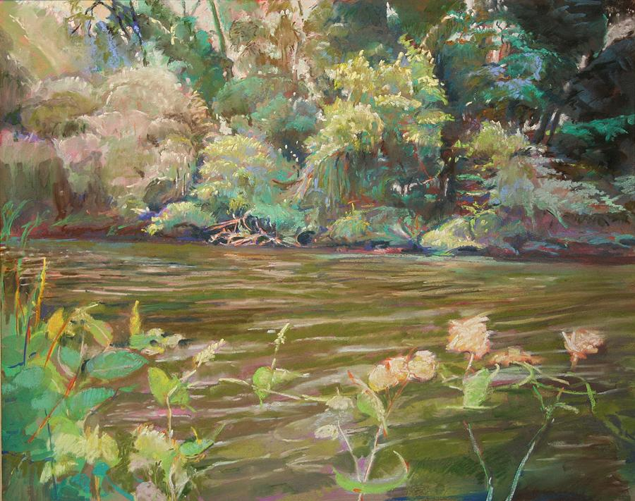 Sun Through Trees Painting - Flowing Canal by Stuart Roddy