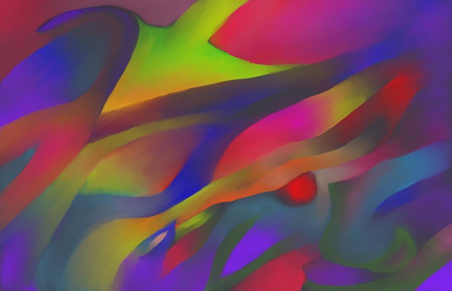 Colorful Digital Art - Flowing Energies by Peter Shor