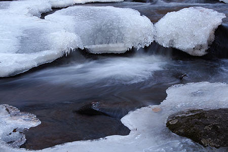 Ice Photograph - Flowing Ice Harriman State Park New York by Mike Malandra