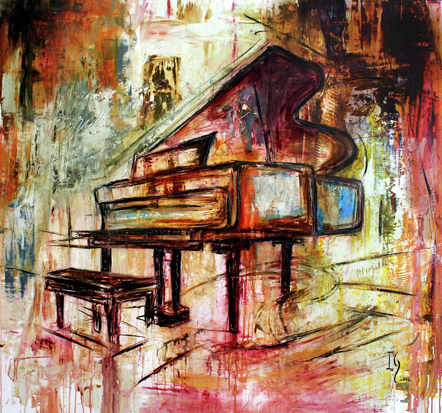 Music Painting - Flowing Notes by Ivan Guaderrama
