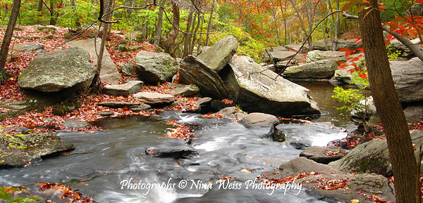 River Photograph - Flowing River Between Rocks by Nina Weiss