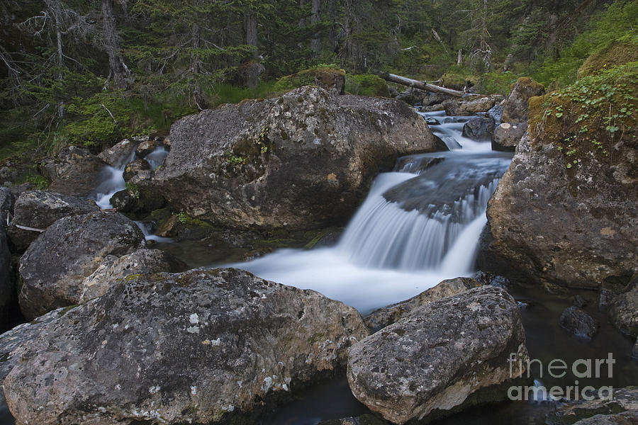 River Photograph - Flowing Through Boulders by Tim Grams