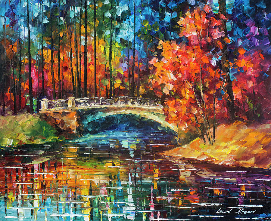 Painting Painting - Flowing Under The Bridge  by Leonid Afremov
