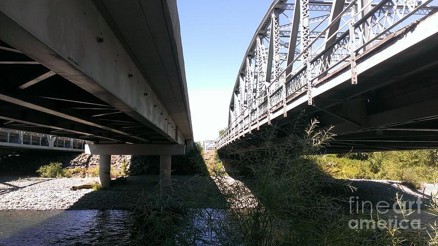 Bridge Photograph - Flowing Under The Bridges by LKB Art and Photography