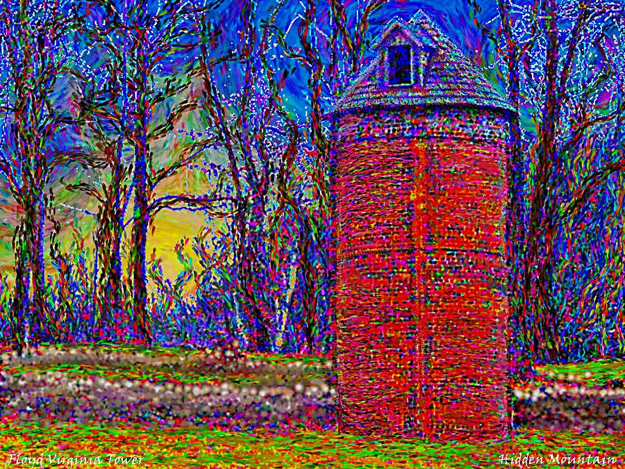 Tower Painting - Floyd,virginia Tower by Hidden Mountain