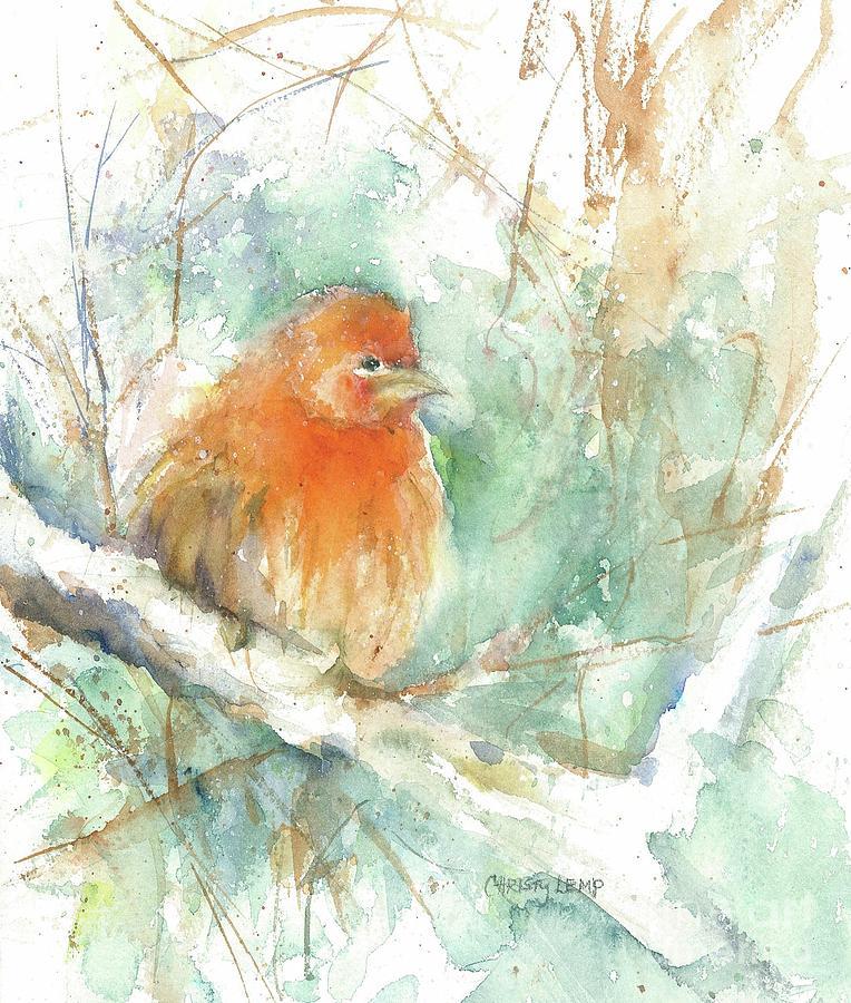 Fluffy Finch by Christy Lemp