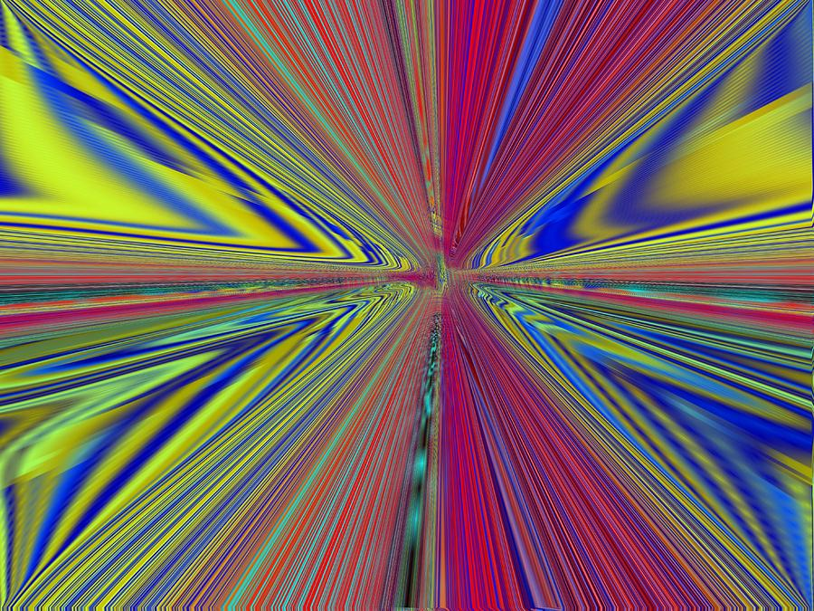 Abstract Digital Art - Fluid Motion by Tim Allen