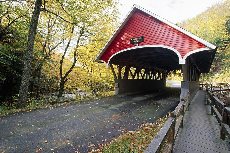 Flume Bridge Lincoln New Hampshire Photograph By George Oze