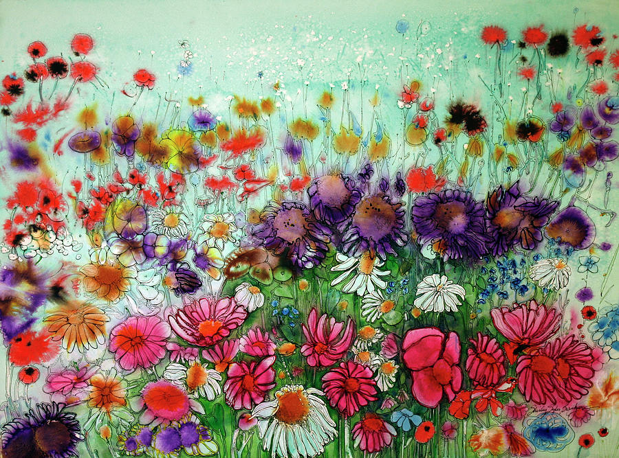 Flurry Of Flowers Painting