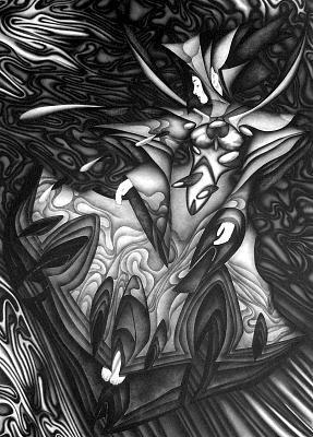 Airbrush Painting - Fluss Der Traenen by Arno Schaetzle