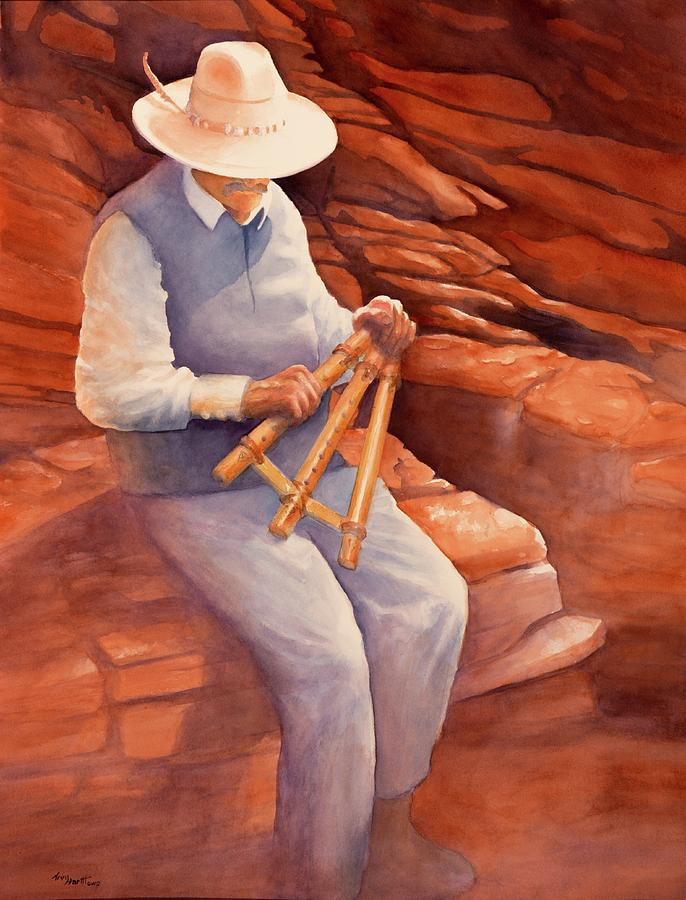 Flute Player of Antelope Canyon by George Harth