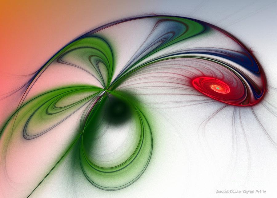 Digital Digital Art - Flutter by Sandra Bauser Digital Art