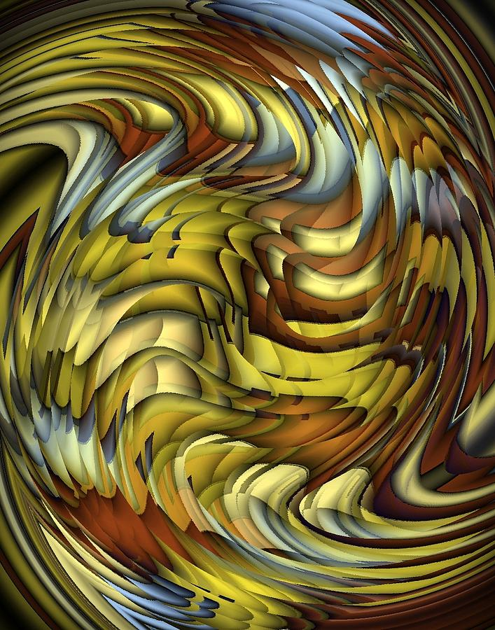 Abstract Digital Art - Flutter by Terry Mulligan