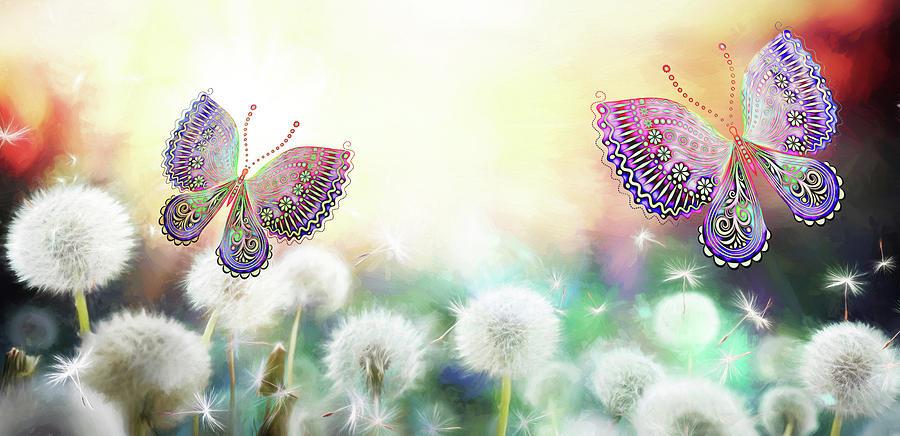 Flutterby Fantasy by Bill Tiepelman