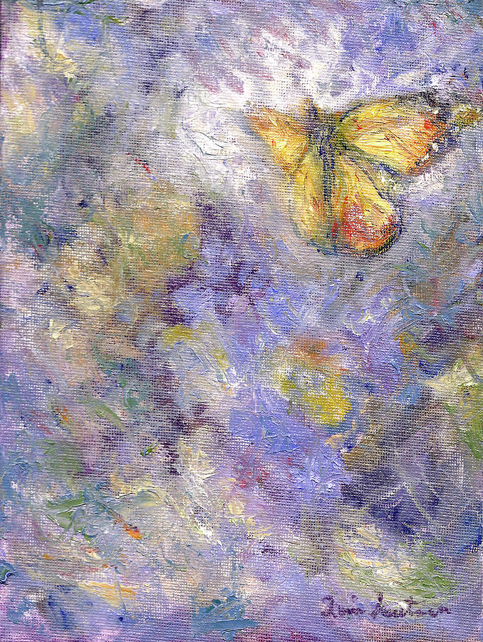 Flutterby - Original Butterfly in Flight Painting by Quin Sweetman