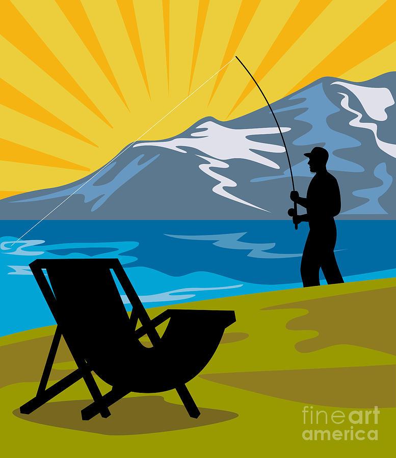 Fly Fisherman Digital Art - Fly Fishing by Aloysius Patrimonio