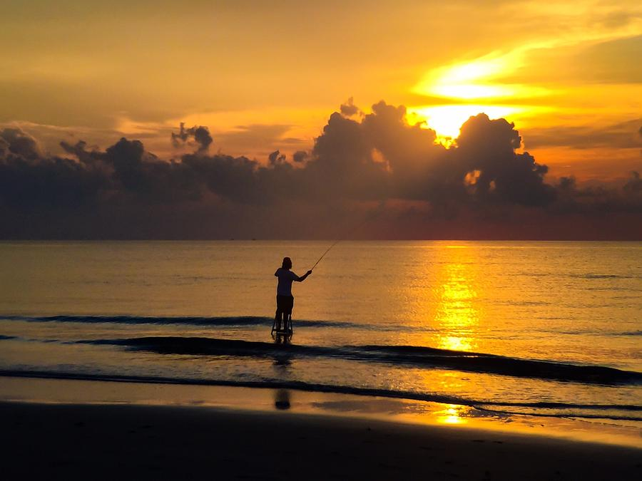 Fly fishing at dawn delray beach fl photograph by for Delray beach fishing