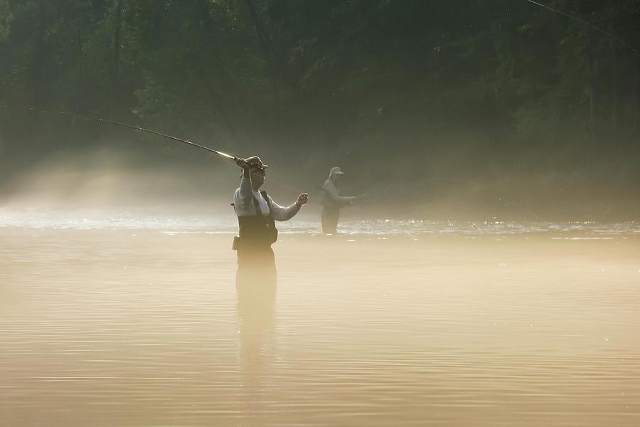 Man Photograph - Fly Fishing  by Betty LaRue