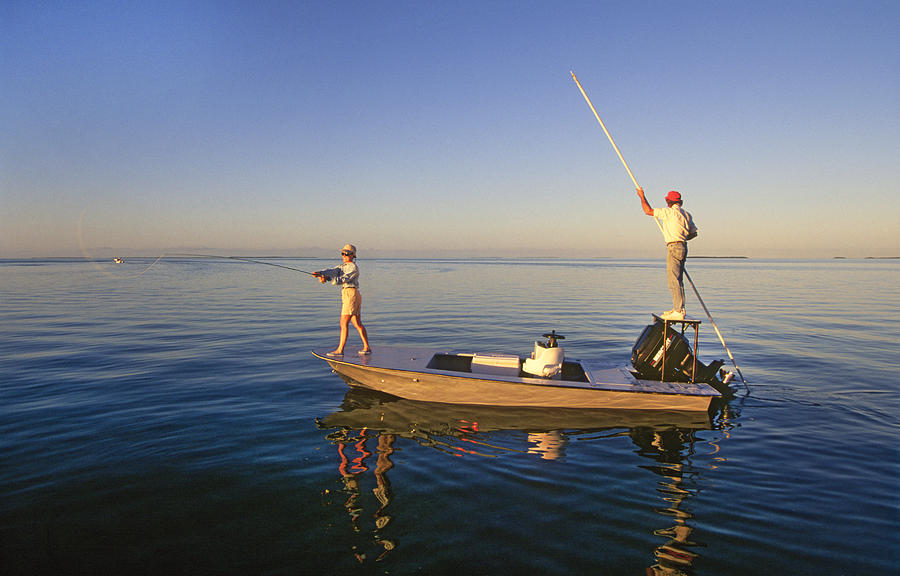 Fly Fishing For Bonefish Photograph