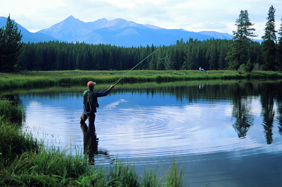 Fly Fishing Photograph - Fly Fishing In Rocky Mountain National Park by Peter Skiba