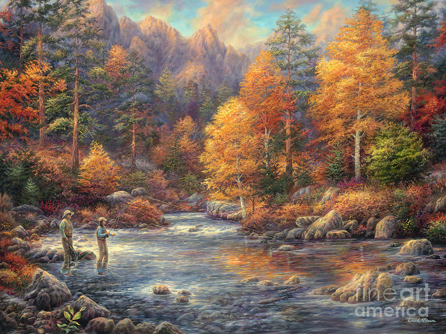 Fly Fishing Painting - Fly Fishing Legacy by Chuck Pinson