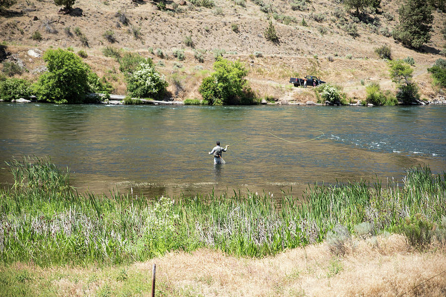 Fly Fishing On The Deschutes River by Tom Cochran