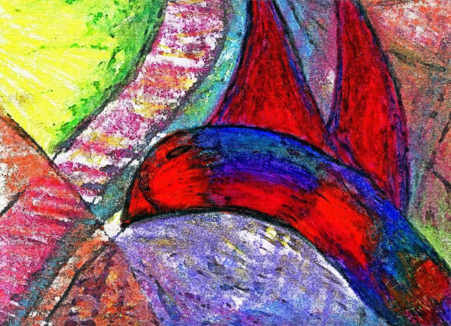 Oil Pastel Digital Art - Fly Up High Littly Birdy by Cassandra Donnelly