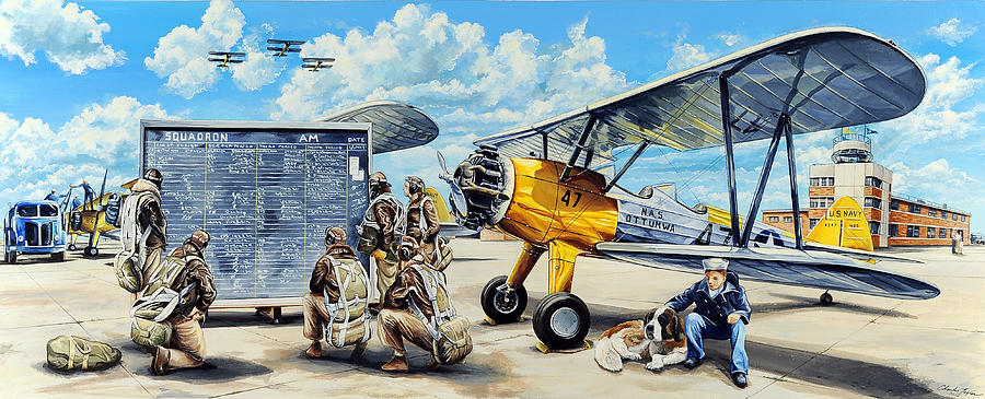 Naval Air Station Painting - Flyers In The Heartland by Charles Taylor