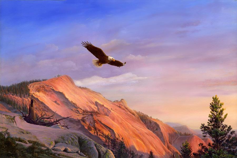 Metal Eagle Painting