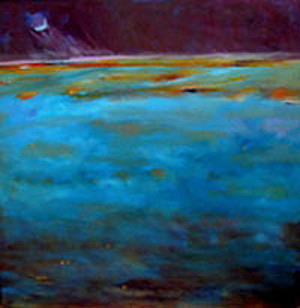 Abstract Landscape Painting - Flying by Anne McNally