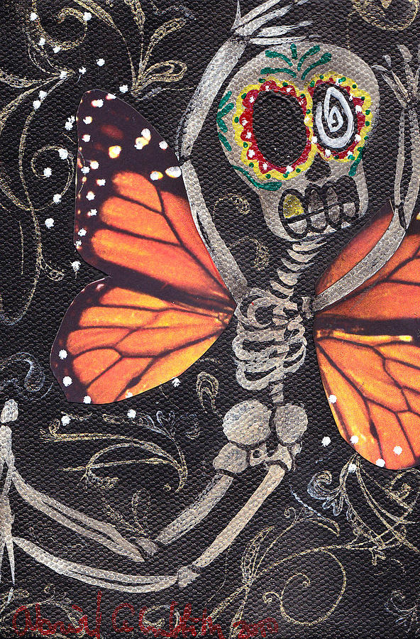 Day Of The Dead Painting - Flying Away by  Abril Andrade Griffith